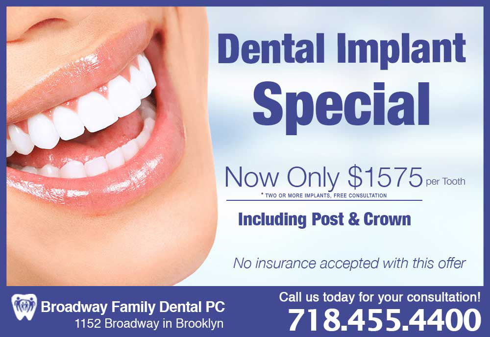 Broadway Family Dental Implant Promo